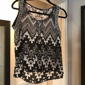 Beautifully Couture black/cream top